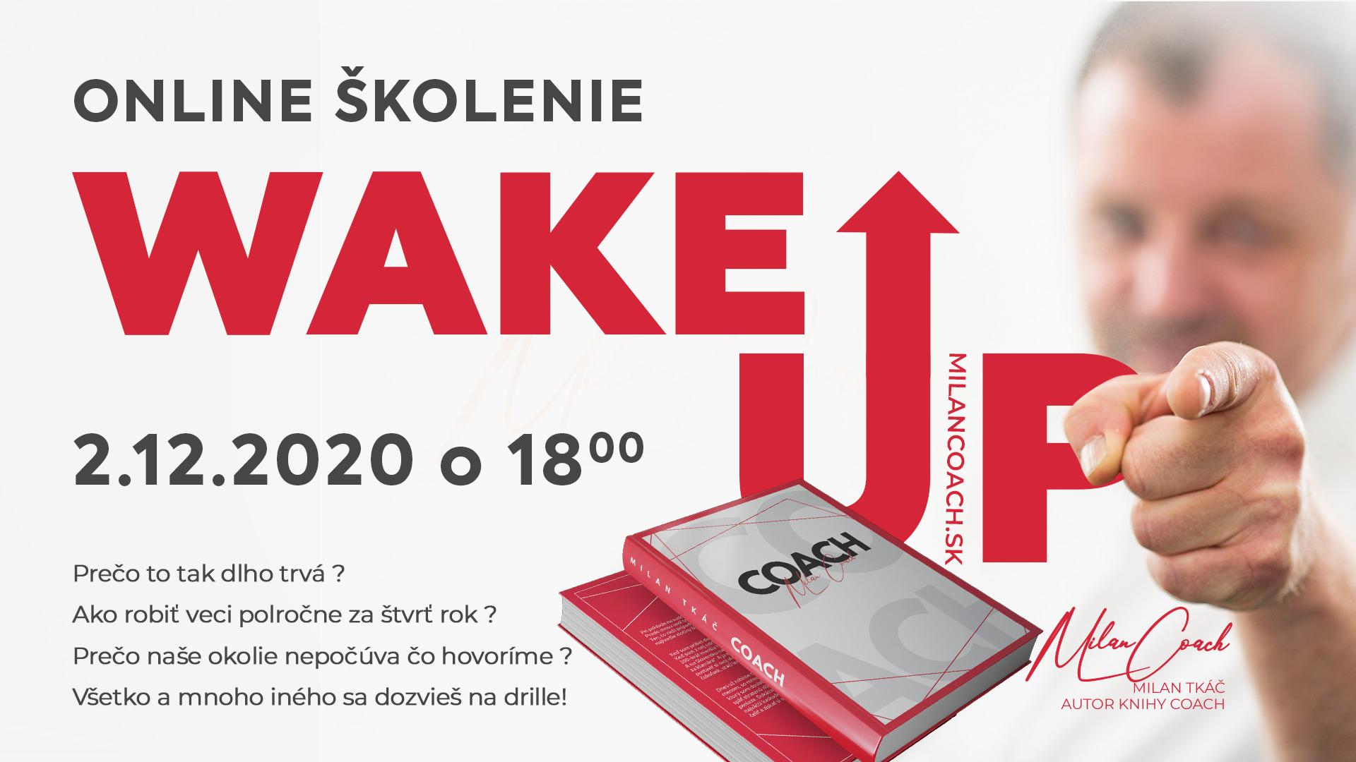 wake up skolenie milan tkac